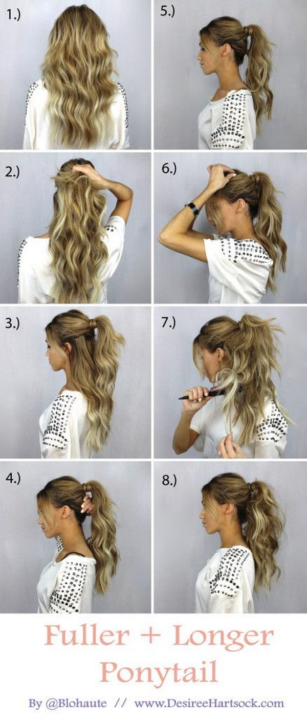 For a Fuller and Longer Pony Tail.