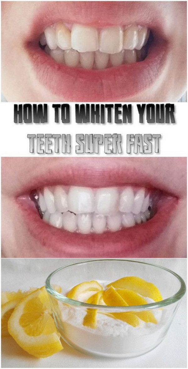 Whiten Your Teeth Super With Lemon Juice With Baking Soda.