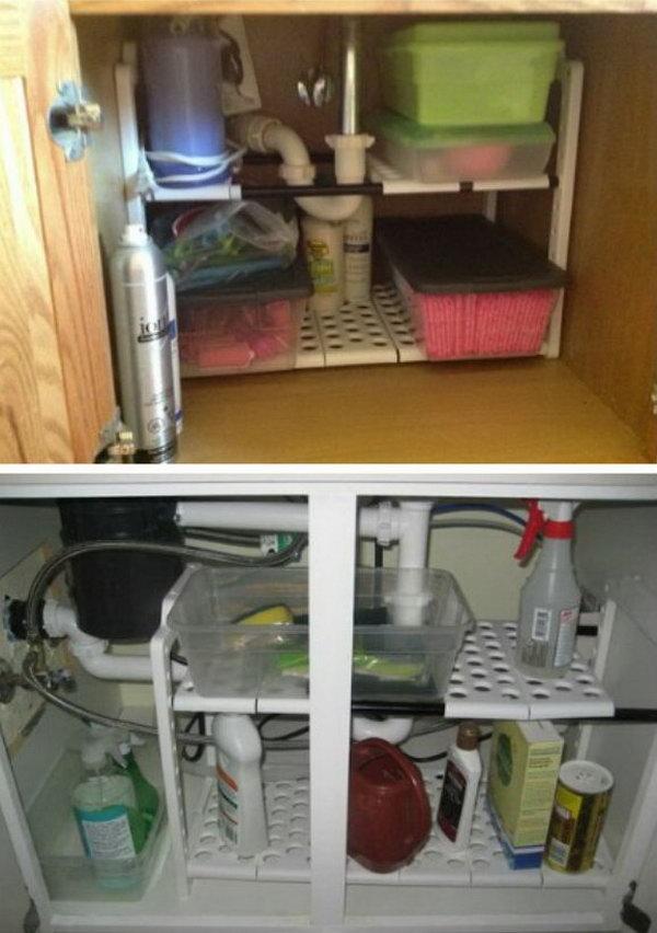 Expandable Under Sink Shelf Organizer