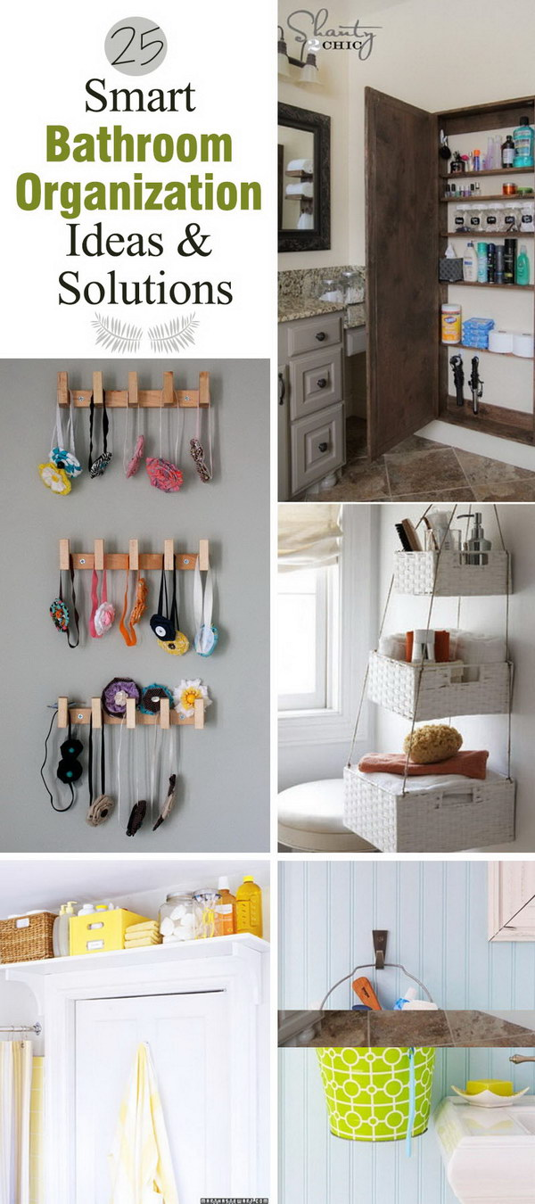 Smart Bathroom Organization Ideas and Solutions!