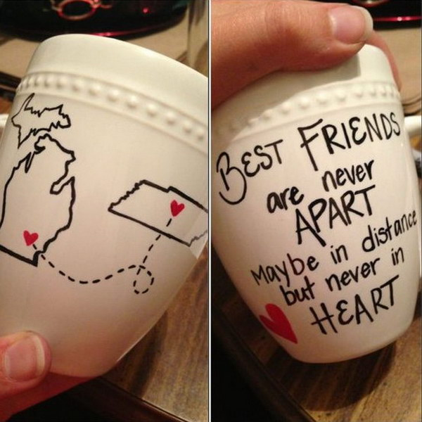 Best Friends Mug DIY Gift Idea