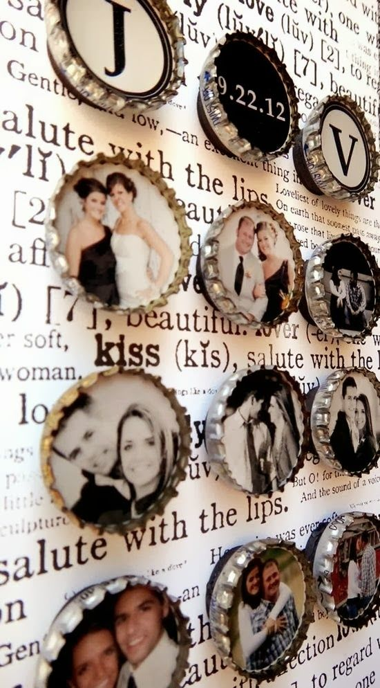 DIY Bottle Cap Photo Magnets