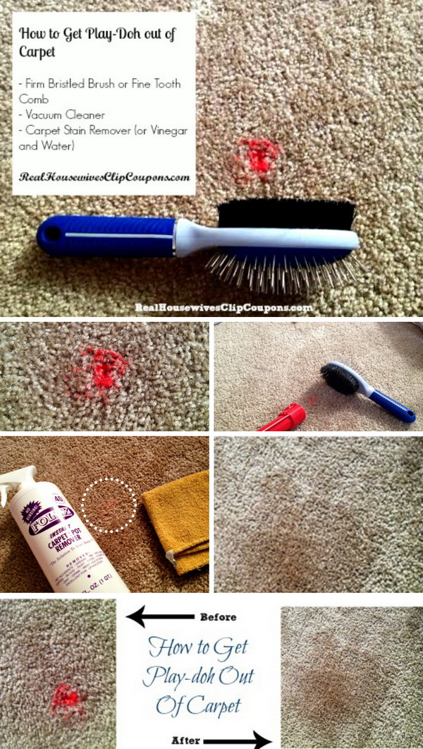 How To Get Play doh Out of Carpet.