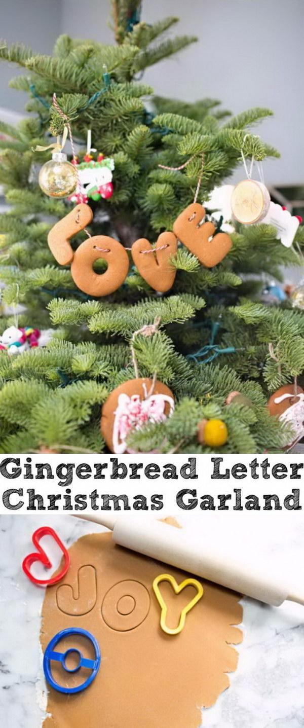 Gingerbread Letter Garland.