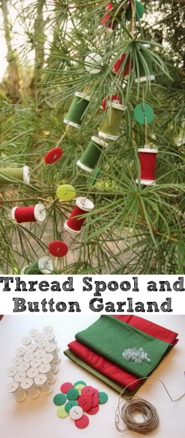 Thread Spool and Button Garland.