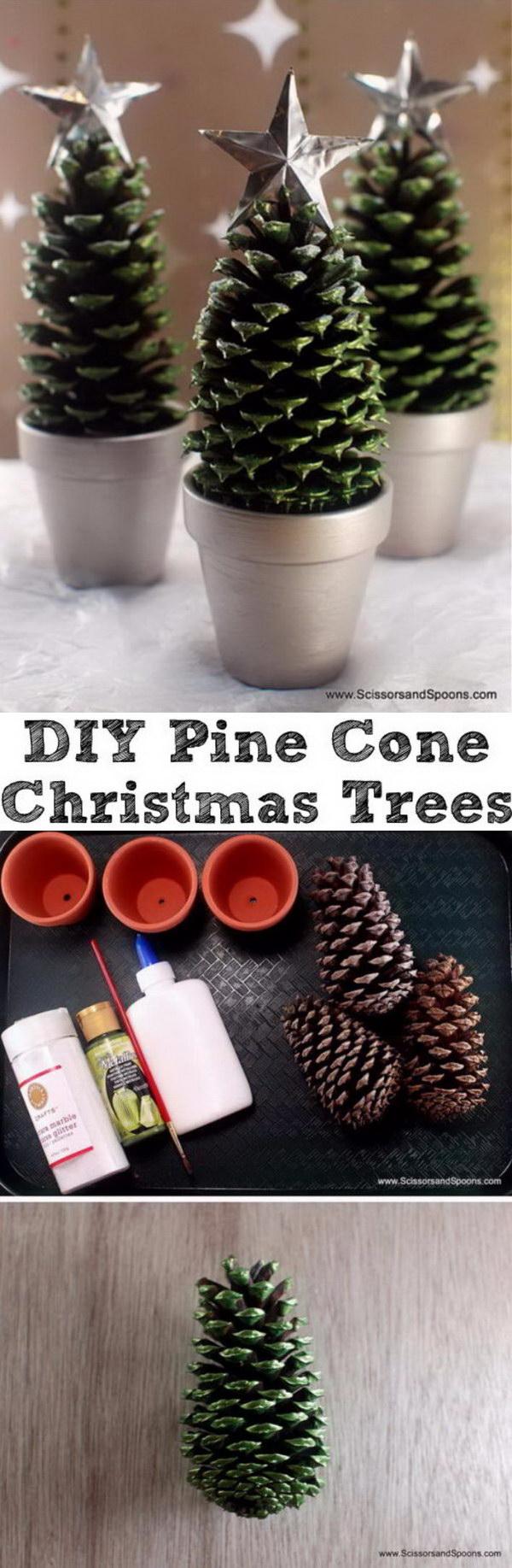 Pine Cone Christmas Trees.