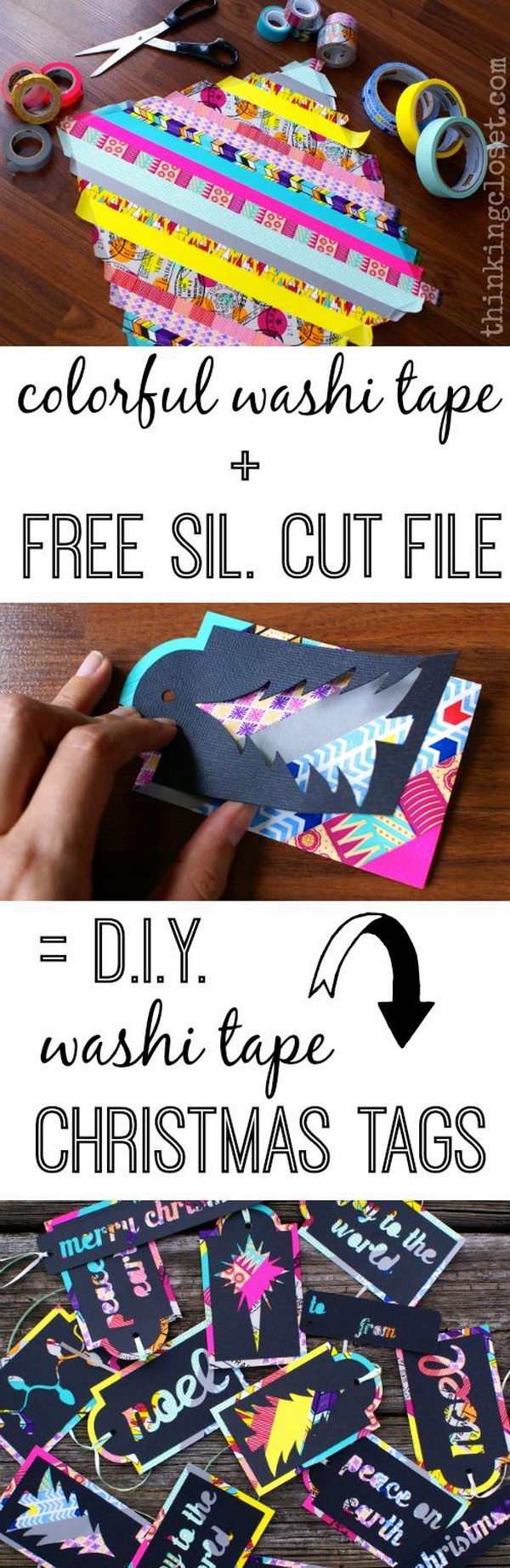 DIY Washi Tape Christmas Tags.