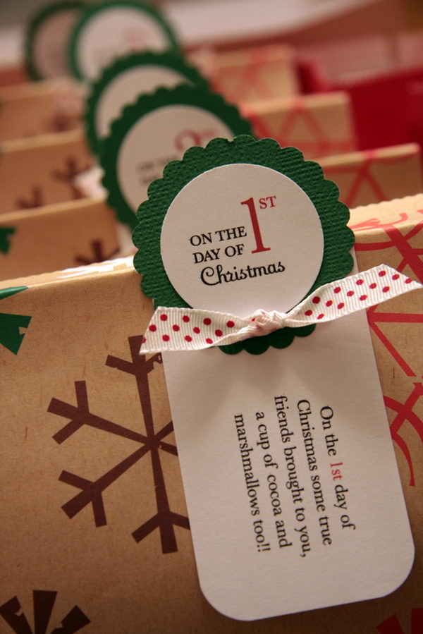 Gift Tags from the 12 Days of Christmas.