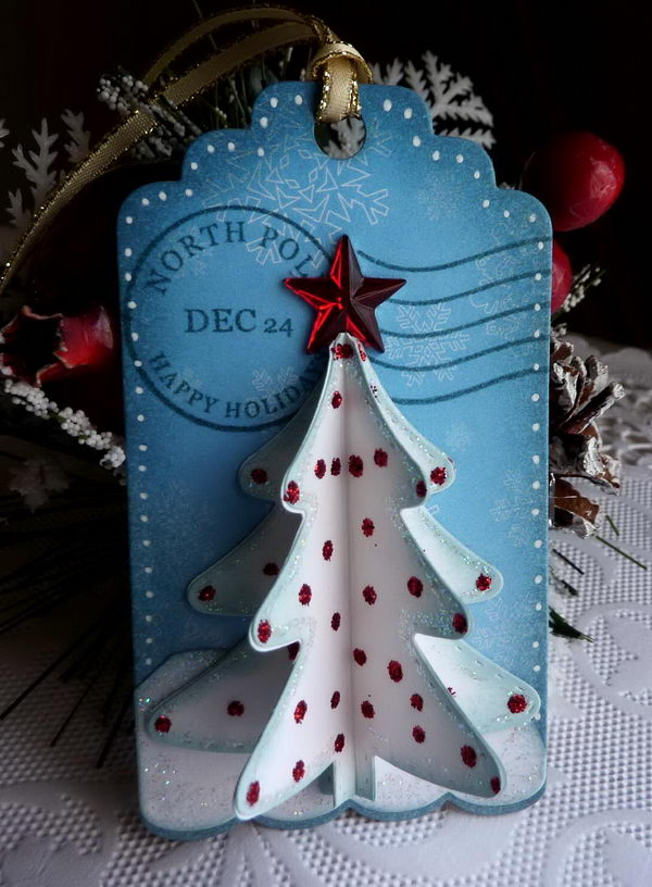 3D Christmas Tree Gift Tag.