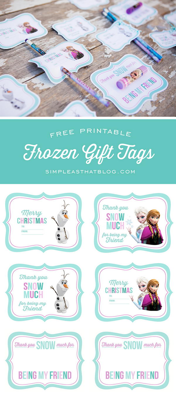 Free Printable Disney Frozen Gift Tags.