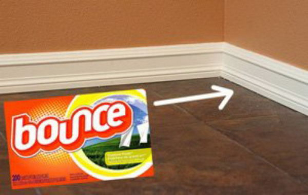 Keep Baseboards Clean With Fabric Softener Sheet
