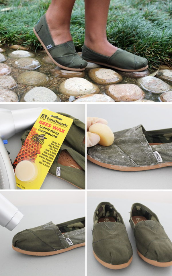 Waterproof Your Shoes With Beeswax.