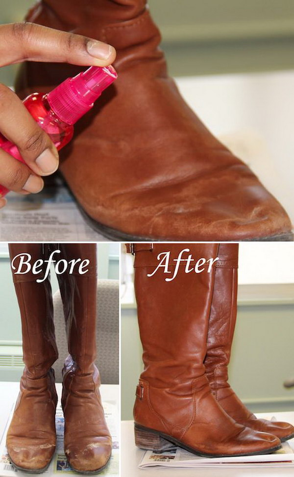 How to Remove Salt Stains from Leather Boots? With just a couple of ingredients you probably already have at home, you can revamp your salt stains covered leather boots and make them look as good as new!