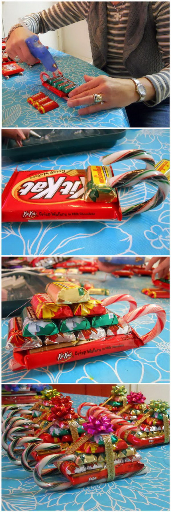homemade candy sleighs