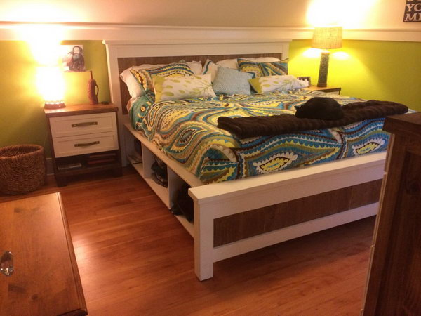 DIY Farmhouse Bed Frame. See the directions