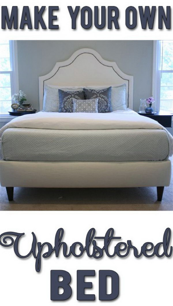 DIY Upholstered Bed Frame. Check out the steps