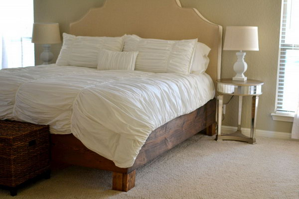 Rustic and Romantic Bed Frame. See the tutorial