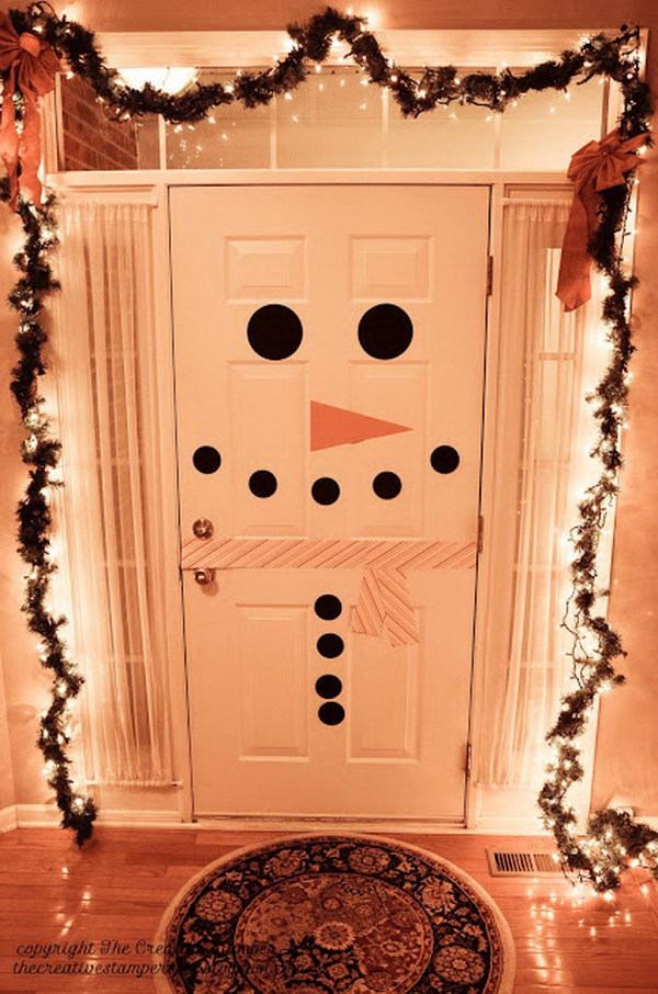 Snowman Door Decoration.