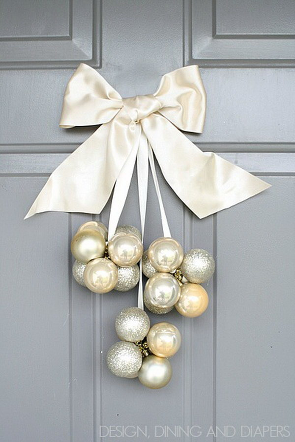 DIY Ornament Door Decoration.