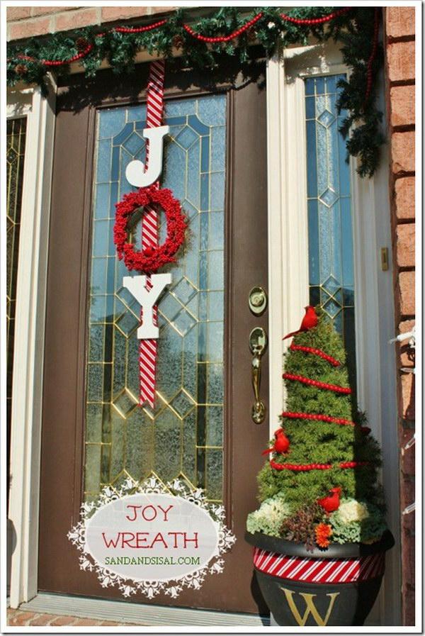Joy Wreath on Your Door.