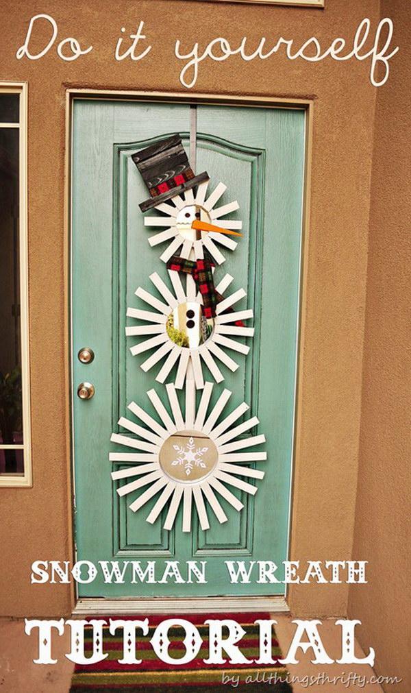 Frosty-Inspired Door Decor.