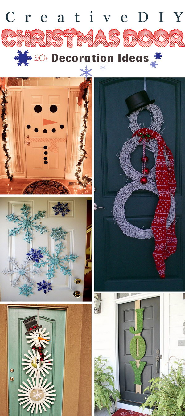 Creative DIY Christmas Door Decoration Ideas!