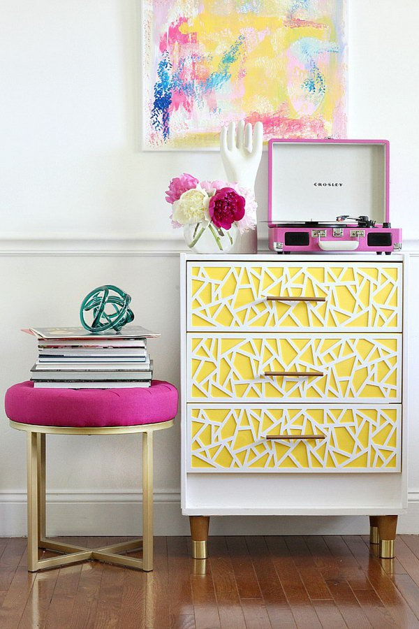 Modern and Bright Ikea Dresser Hack for Girls. Get the tutorial