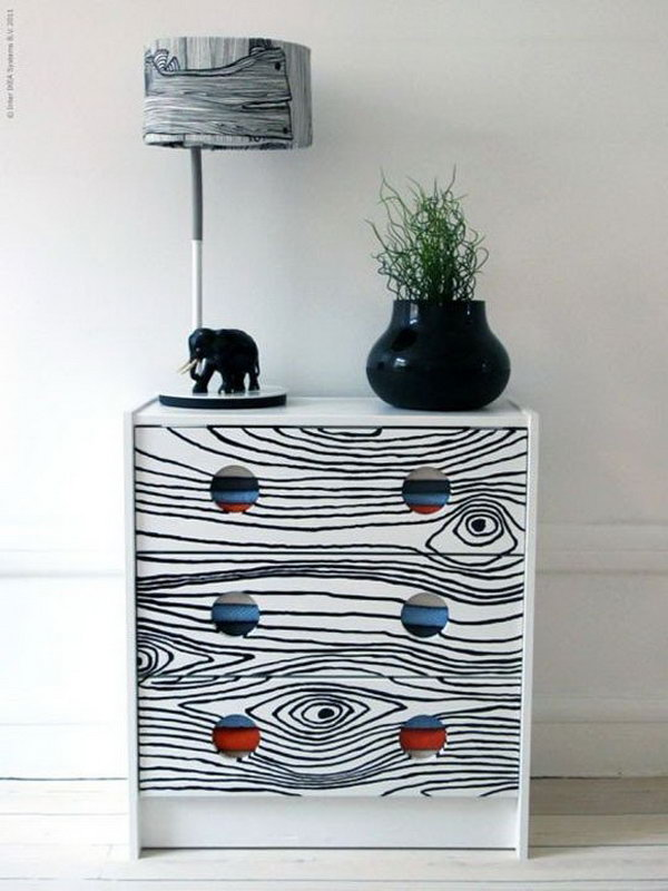 Faux Bois Print Dresser. See more instructions