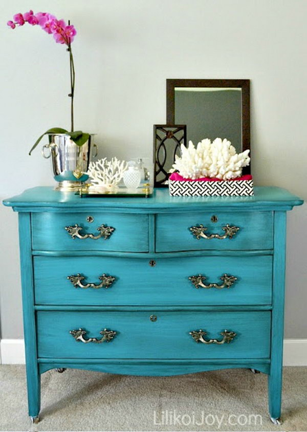 Craigslist Dresser Gets a Colorful Makeover. See the steps