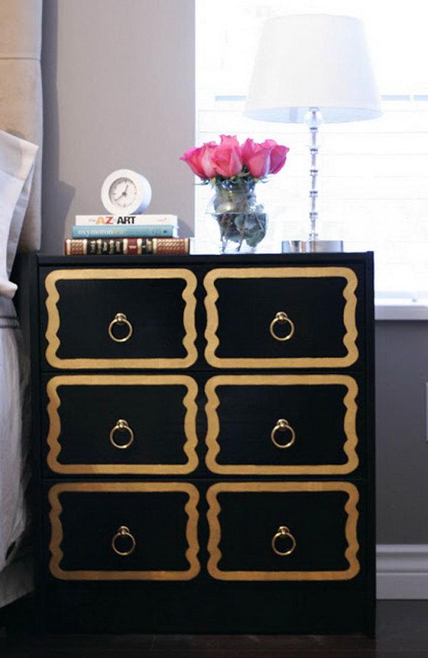 DIY Dorothy Draper Dresser.