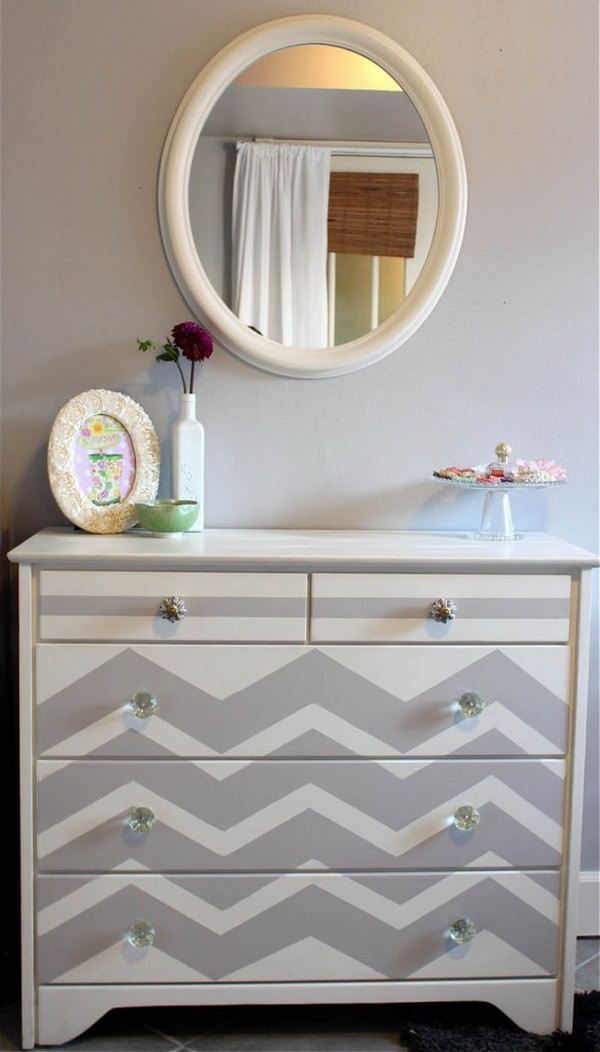 Chevron Patterned Dresser. Get more details