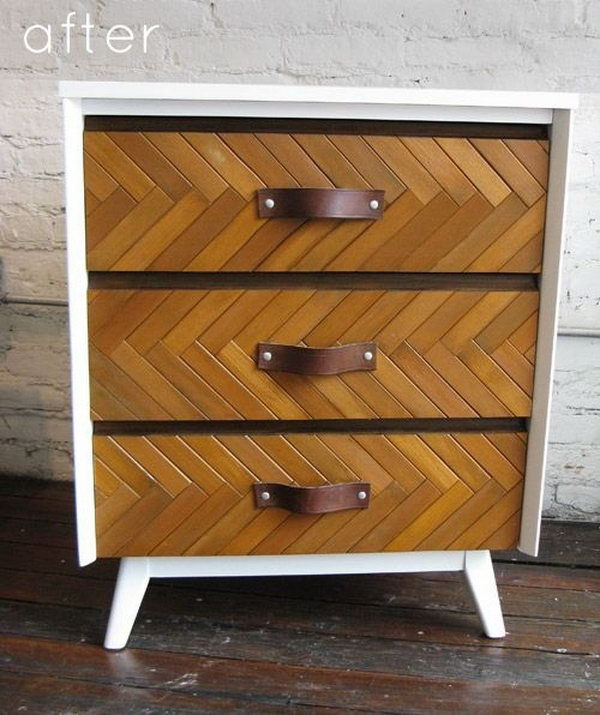 Use Shutters for a Textured Herringbone Pattern. See the tutorial