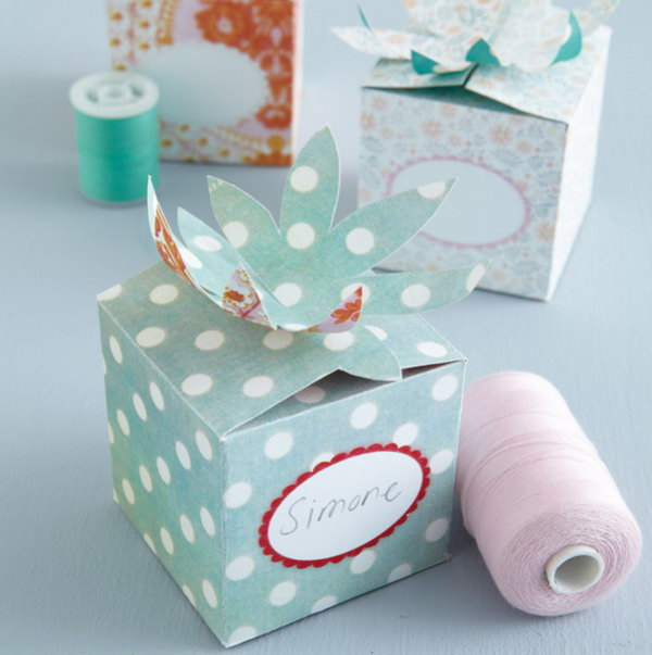 Flower Folded Top Gift Box. See more directions