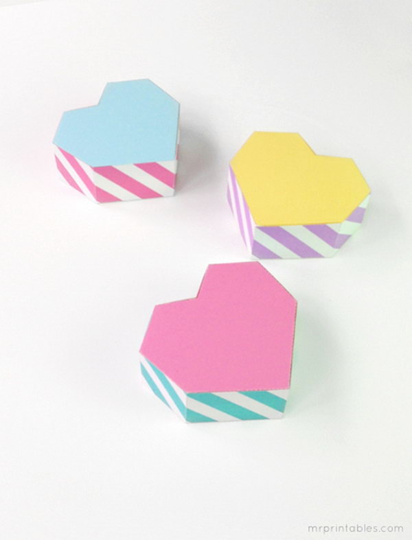Geometric Heart Shaped Gift Boxes. See more details