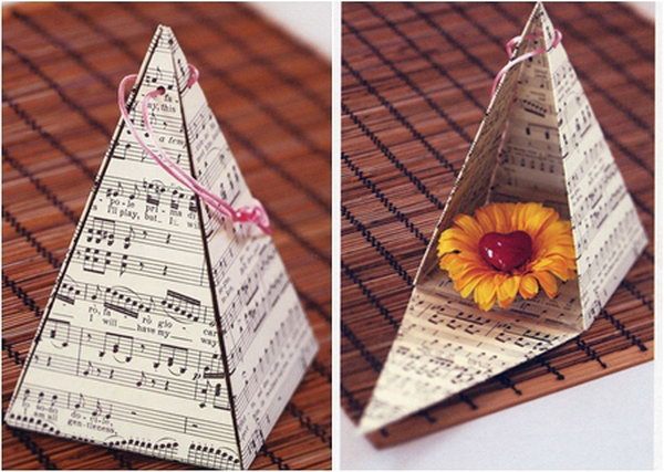 DIY Pyramid Gift Box. Get the tutorial