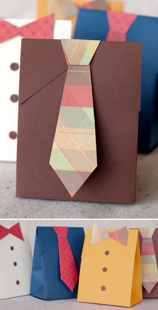 DIY Shirt & Tie Gift Boxes. Learn how to make it