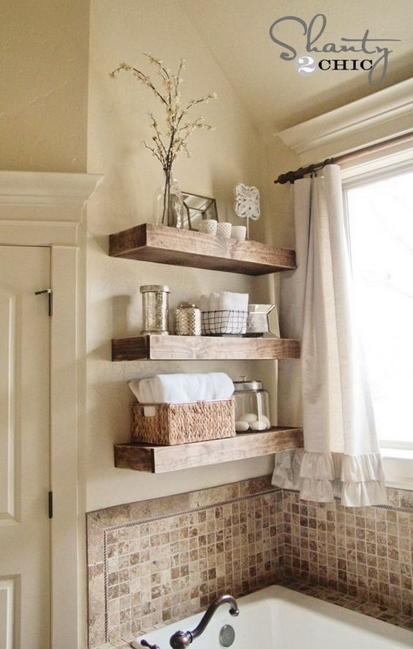 DIY Floating Shelves.