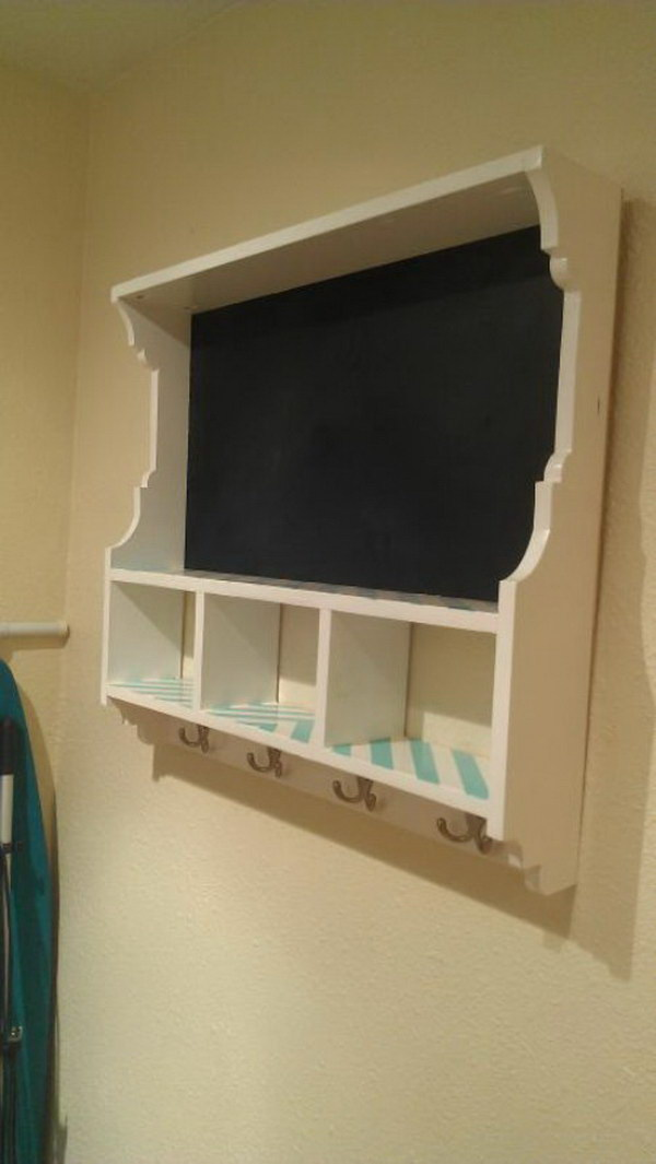 Chalkboard Cubby Shelf.