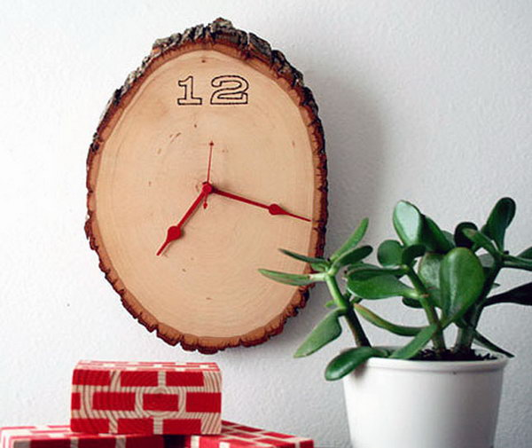 Wood Slice Clock. See the tutorial