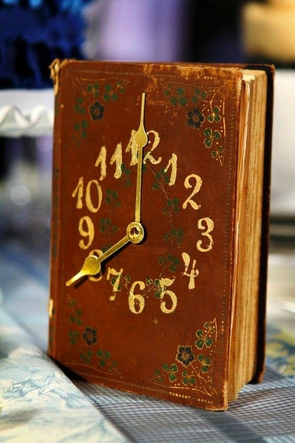 Vintage Book Clock. See the details