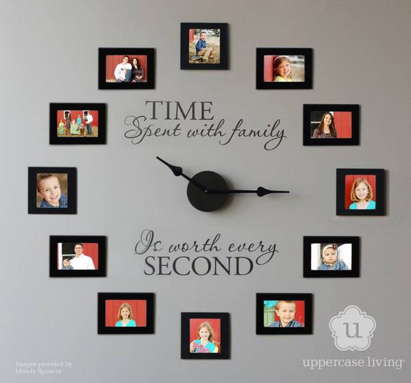 Picture Frame Wall Clock. See the directions