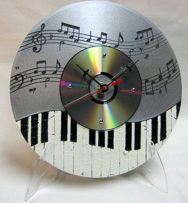 Recycle Unwanted CD's into Musical Clocks. Check out the steps