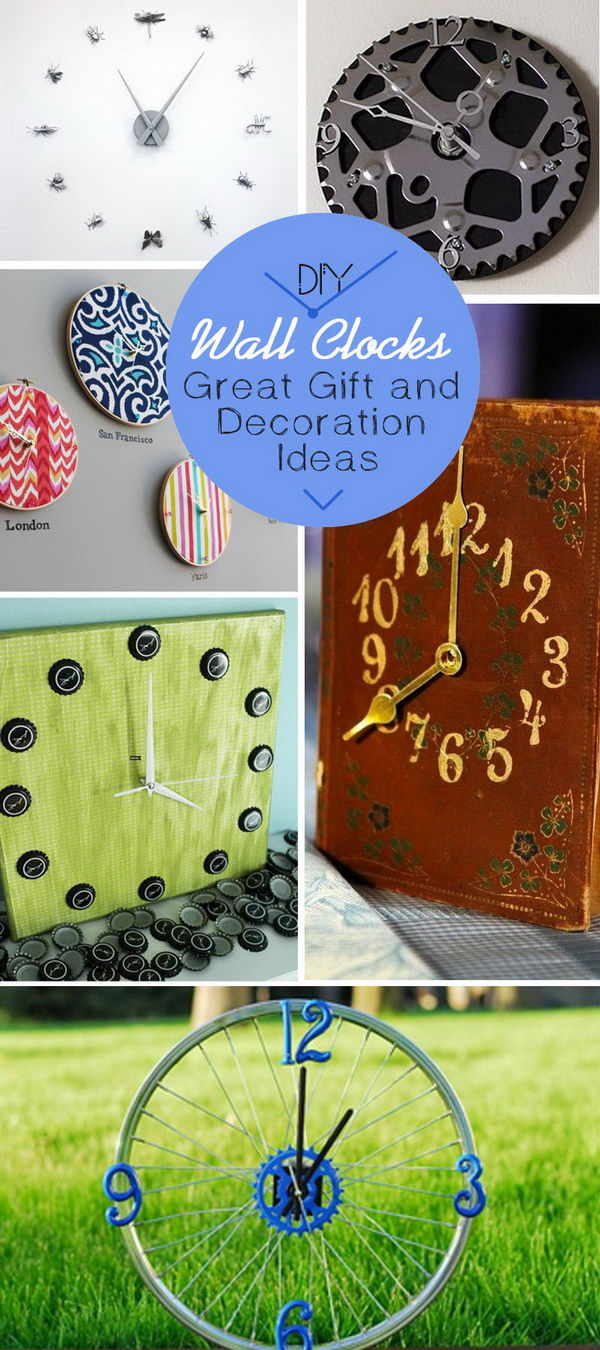 DIY Wall Clocks · Great Gift and Decoration Ideas!
