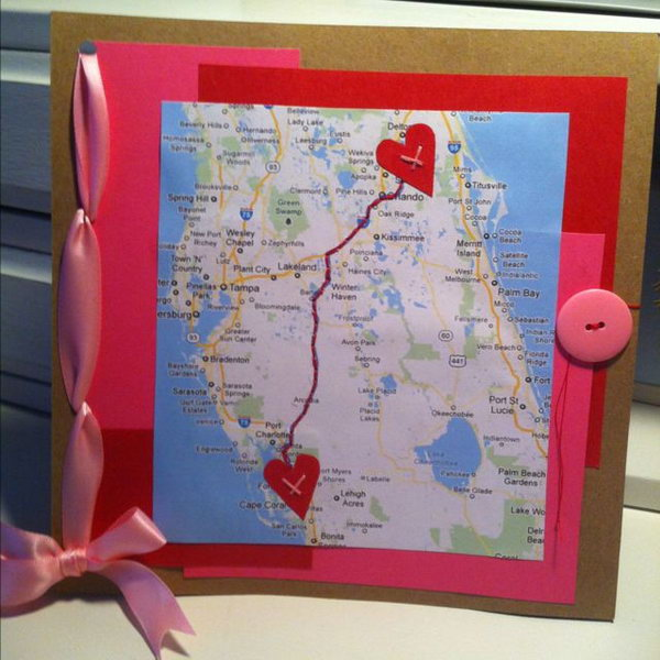 A cute gift board for long distance relationship friends