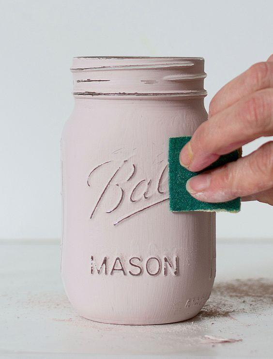 Shabby Chic Mason Jars.