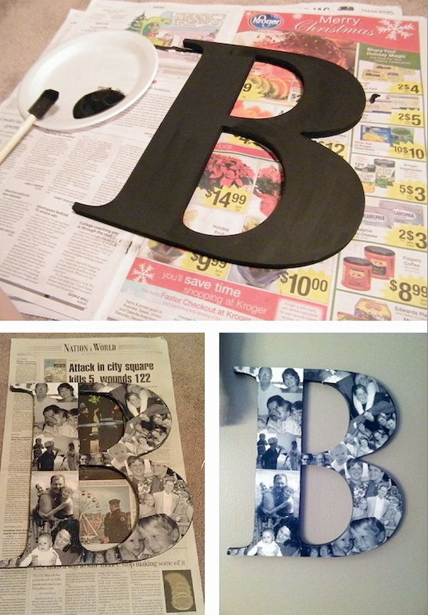DIY Photo Collage Monogram