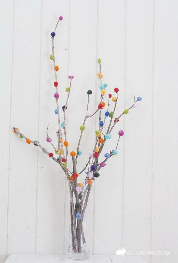 Pom-pom Branch Bouquet