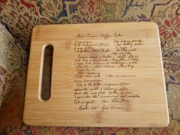 Family Recipe-Etched Cutting Board