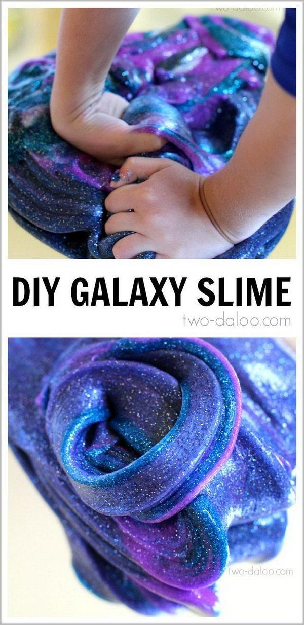 DIY Galaxy Slime. Video tutorial