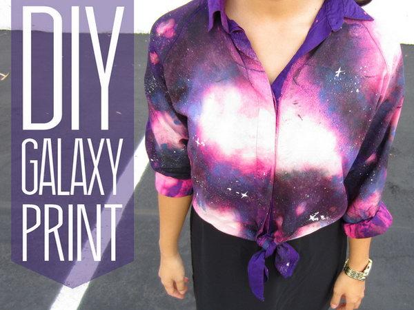 DIY Galaxy Print Blouse. Tutorial